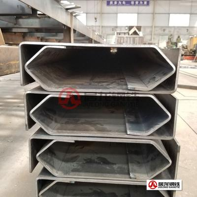 半挂自卸车车箱上边梁高强板折弯加工