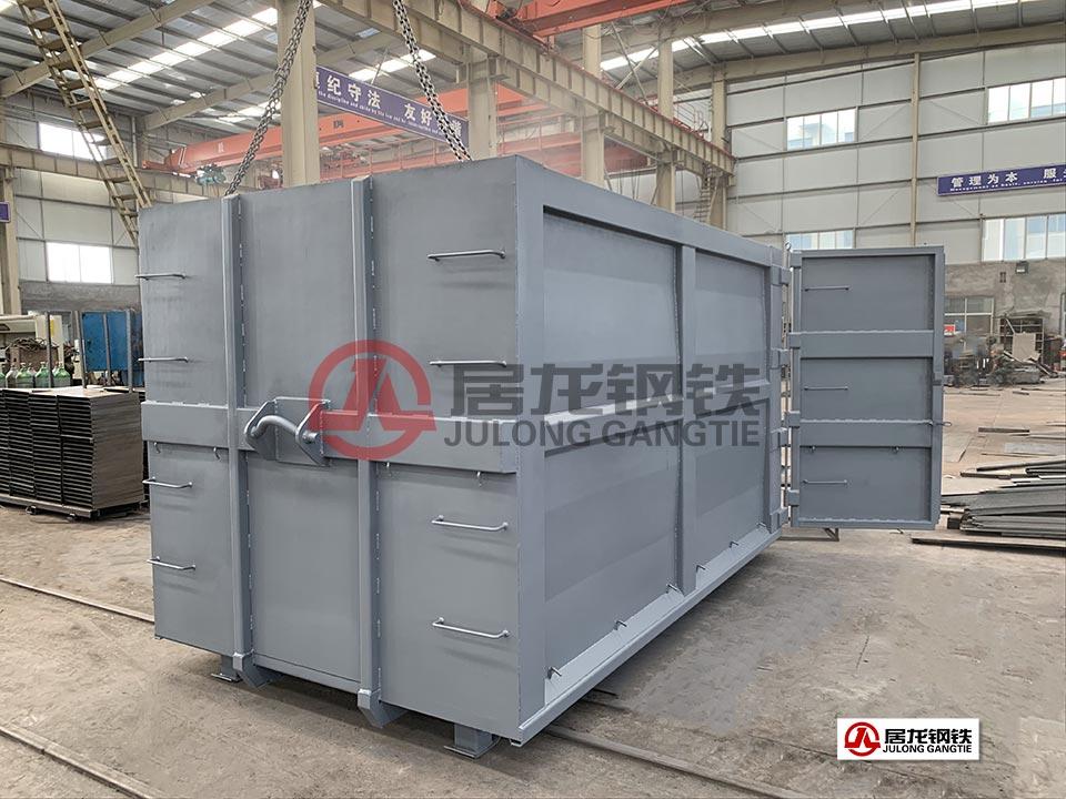 4米废固箱出口加工 采用NM450耐磨板